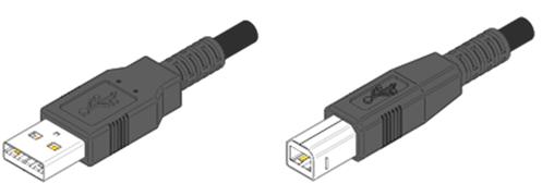 USB Тип А  и USB Тип В
