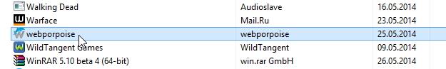 Удалить webporpoise