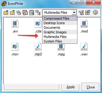 Выбрать тип файлов
