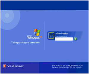 удалить пароль администратора в windows xp