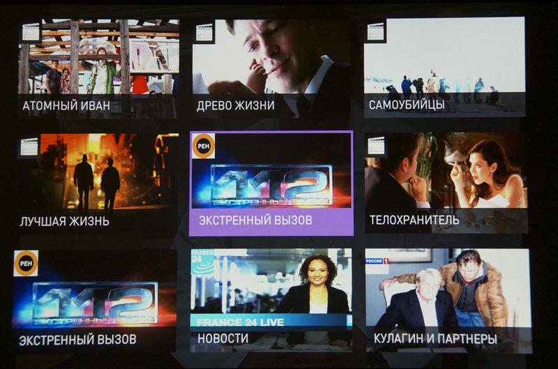 Меню ТВ