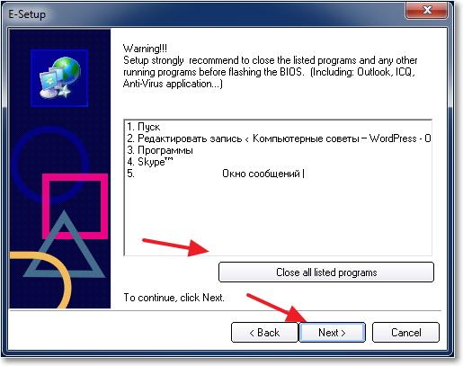 Close all programs
