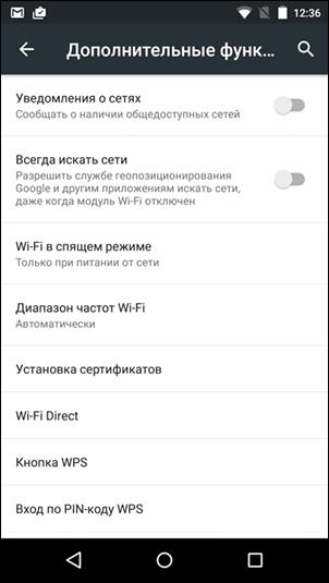 Функции Wi-fi