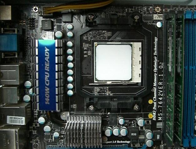 Установка процессора