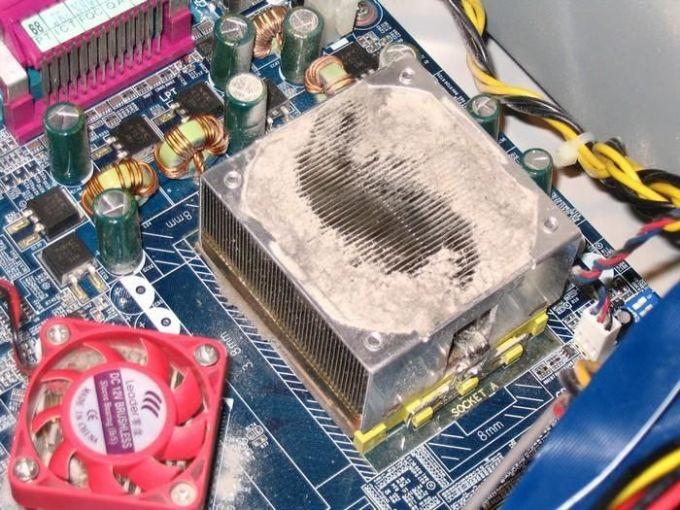 Кулер в пыли