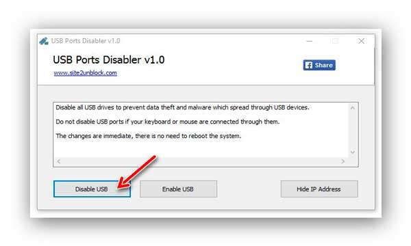 USB Ports Disabler